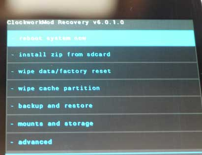 Функции Android System Recovery 3e