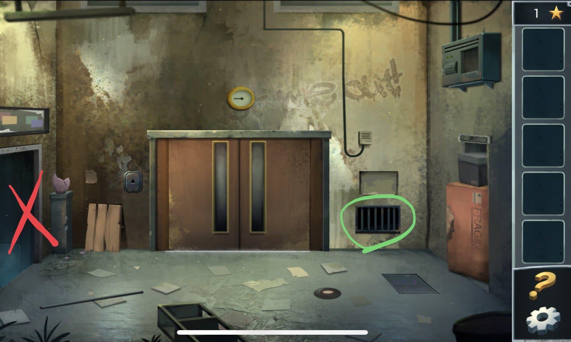 Внимание! Не возвращайтесь в лифтовую шахту, иначе не сможете снова подняться на верхний этаж, проволоки больше в технической комнате не буде и придется начать игру сначала.
