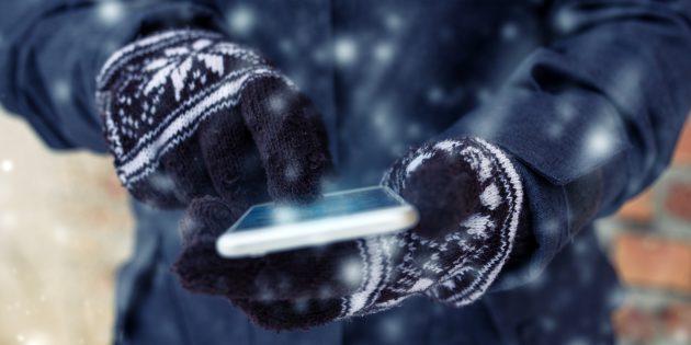 Ёмкость аккумулятора смартфона: не допускайте переохлаждения
