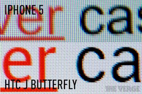 J butterfly screen compare to iPhone 5