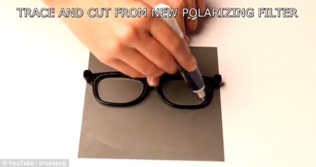 It is this filter that allows the wearer of the spectacles to see the stripped screen