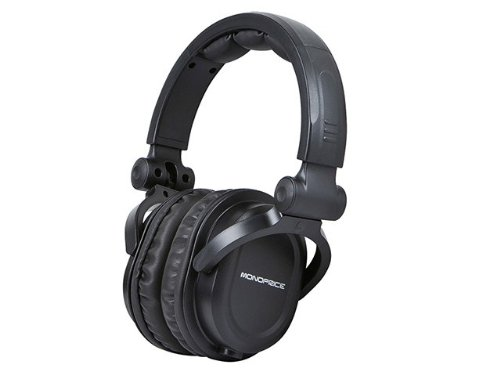 Monoprice 108323 Premium Hi-Fi DJ Style Over-the-Ear Pro Headphone