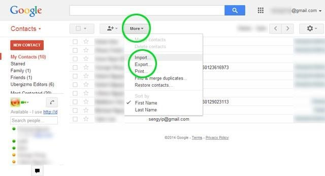 Transfer iPhone Contacts to Android Gmail
