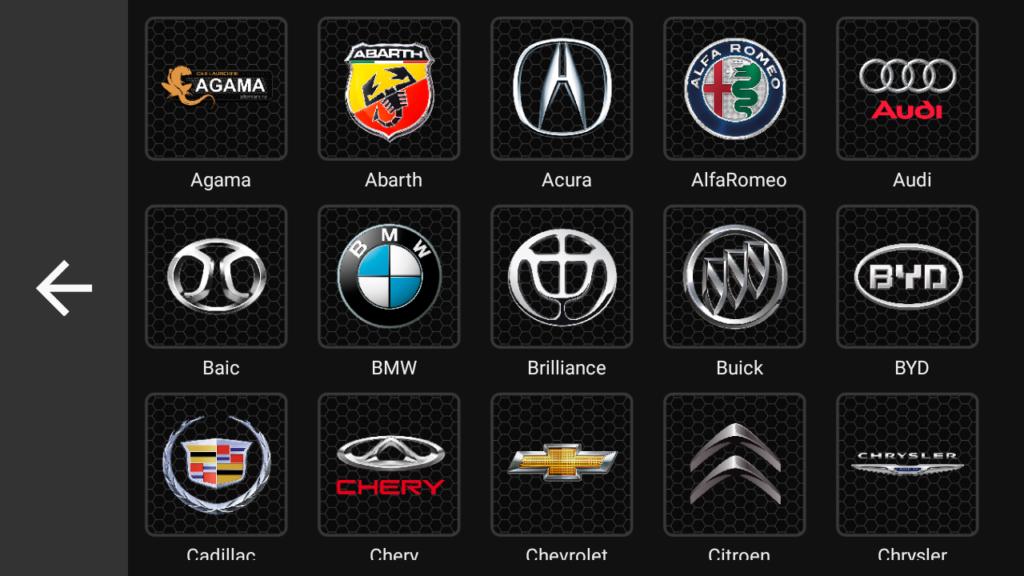 Выбор марки автомобиля