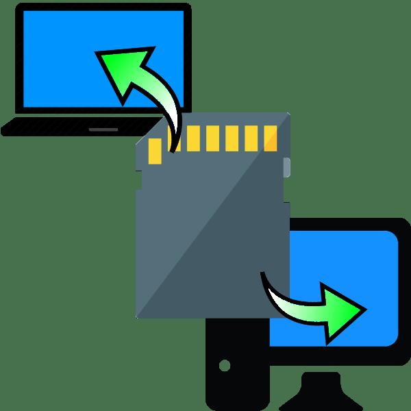 как вставить карту памяти в компьютер или ноутбук