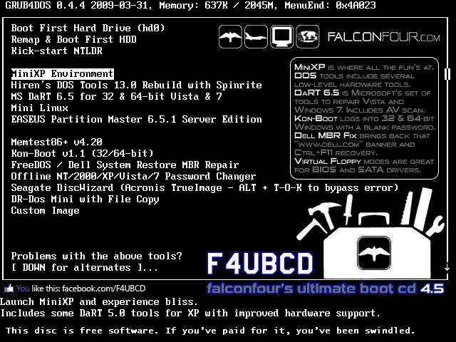 FalconFour's Ultimate Boot CD