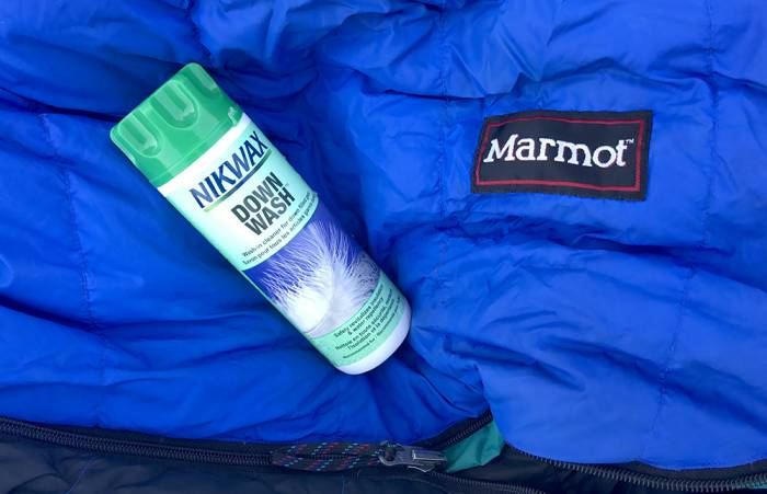 Wash down sleeping bag